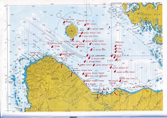 Melanesia fiji vanuatu solomon islands oceans horizon map depicting wwii losses at iron bottom sound solomon islands gumiabroncs Images